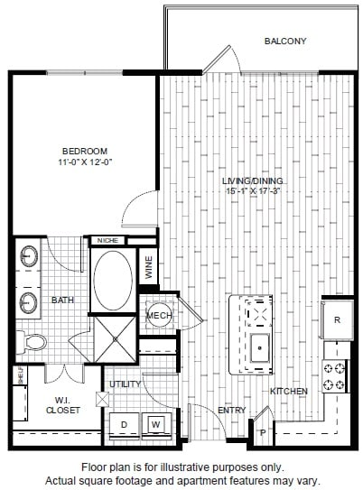 Floor Plan  A8-1 Floor Plan at Windsor CityLine, opens a dialog