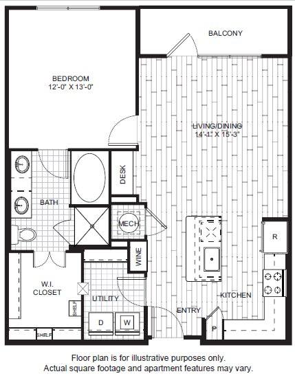 Floor Plan  A8 Floor Plan at Windsor CityLine, opens a dialog