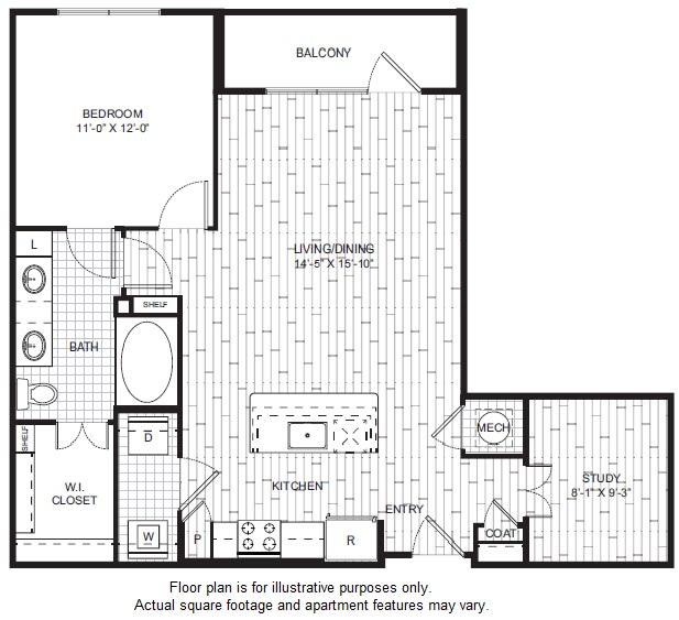 Floor Plan  A9 Floor Plan at Windsor CityLine, opens a dialog