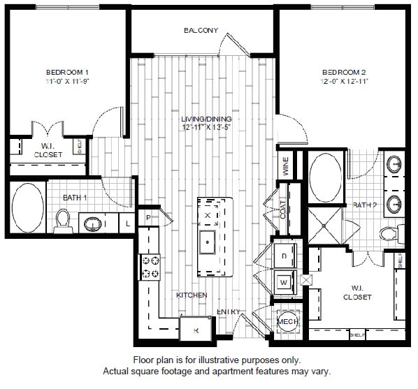 Floor Plan  B1 Floor Plan at Windsor CityLine, opens a dialog