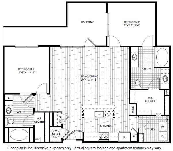 Floor Plan  B3-A Floor Plan at Windsor CityLine, opens a dialog
