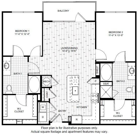 Floor Plan  B4 A Floor Plan at Windsor CityLine, opens a dialog