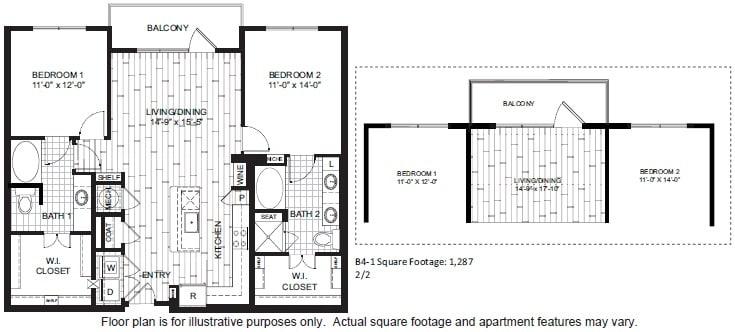 Floor Plan  B4 Floor Plan at Windsor CityLine, opens a dialog