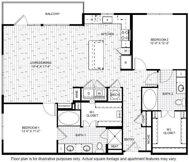 Floor Plan  B7-1 Floor Plan at Windsor CityLine, opens a dialog