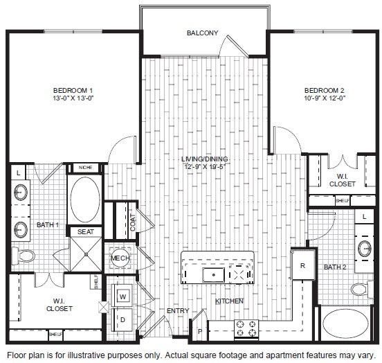 Floor Plan  B8 Floor Plan at Windsor CityLine, opens a dialog