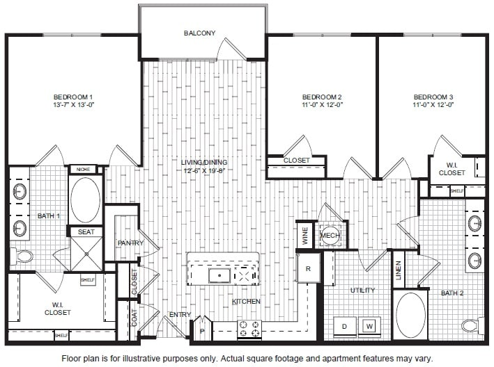 Floor Plan  C1 A Floor Plan at Windsor CityLine, opens a dialog