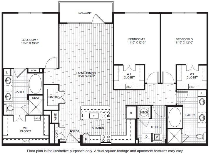 Floor Plan  C1 Floor Plan at Windsor CityLine, opens a dialog