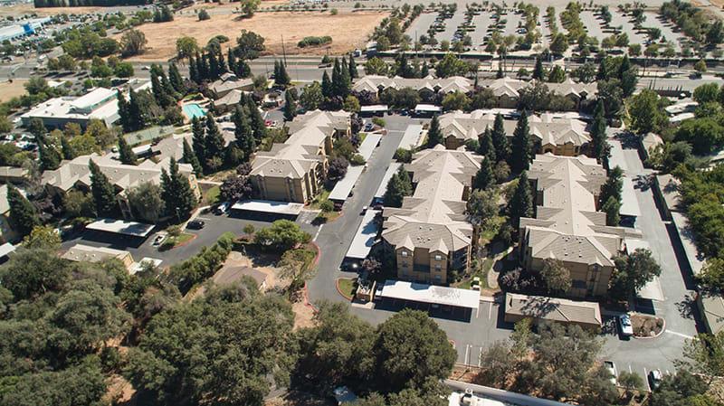 Aerial View l Oak Brook Apartments in Rancho Cordova CA