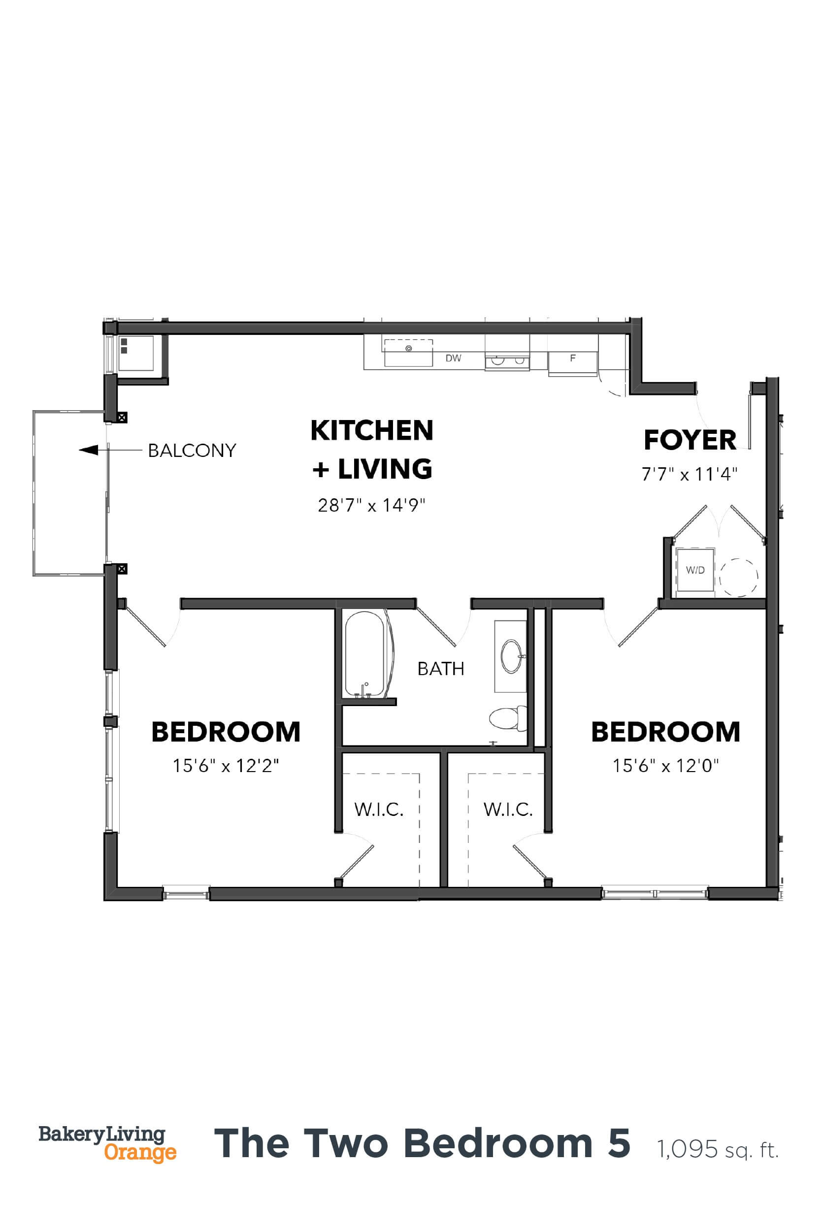 Floor Plan  Bakery Living B5, apartments in Pittsburgh, Pennsylvania