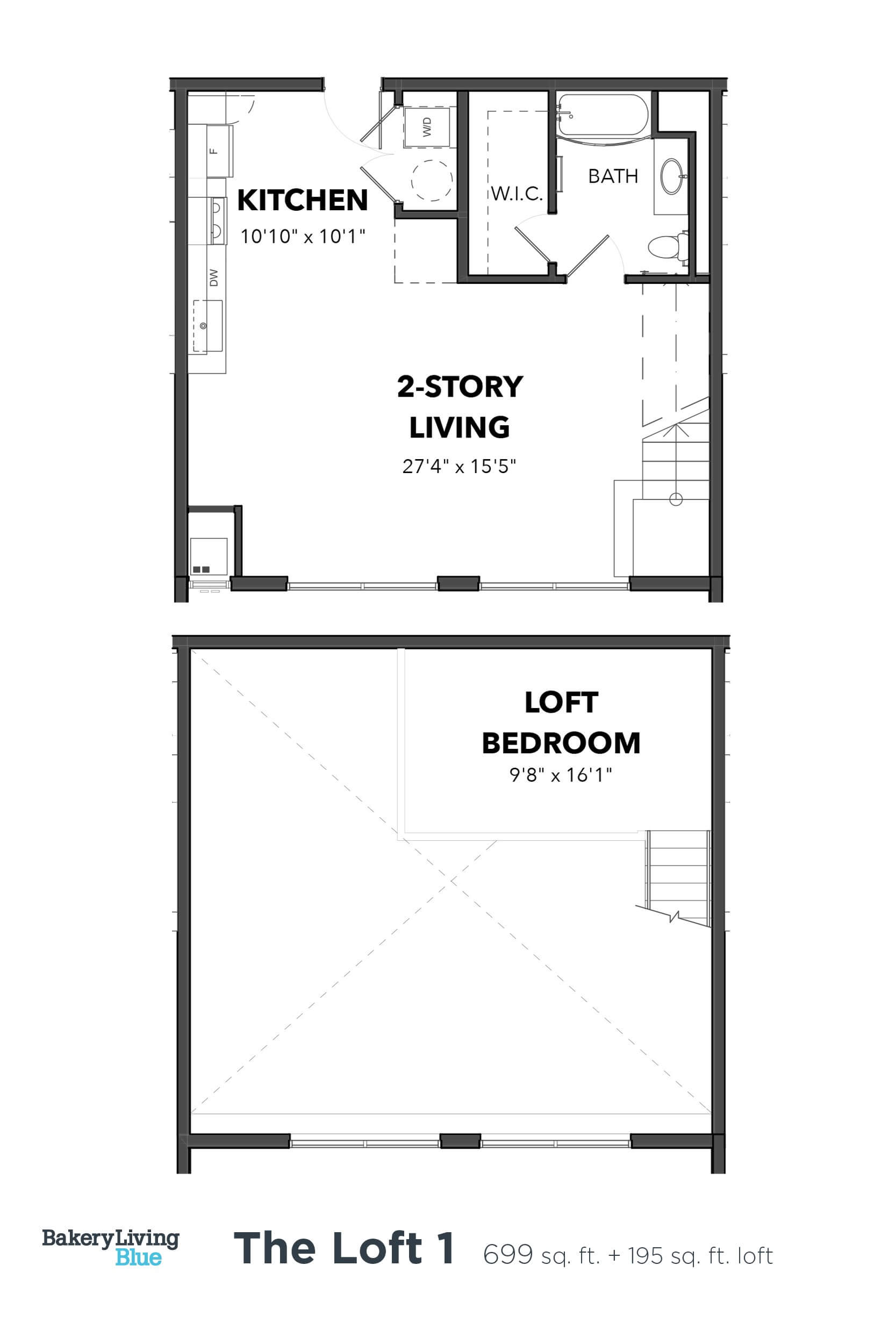 Floor Plan  Bakery Living Loft 1, apartments in Pittsburgh, Pennsylvania