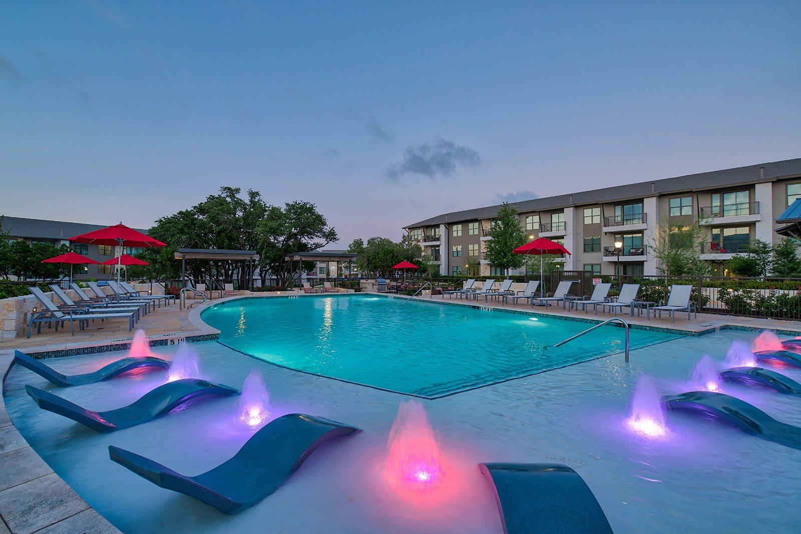 Infinity-Edge Pool with Baja Sun Shelf at Windsor Lantana Hills, Texas, 78735