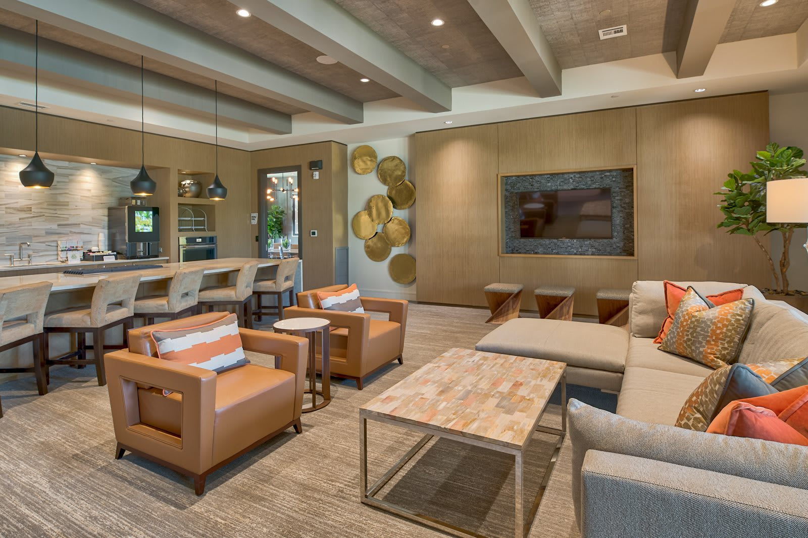 Posh Lounge Area In Clubhouse at Windsor Lantana Hills, Austin, TX, 78735