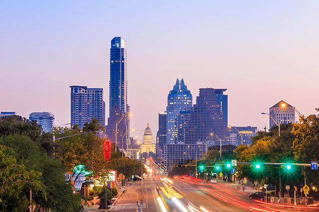 City Night View at Windsor Lantana Hills, Austin, 78735