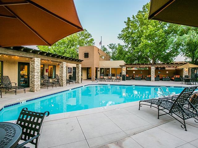Pool & Pool Patio at tierra pointe apartments in Albuquerque, nm