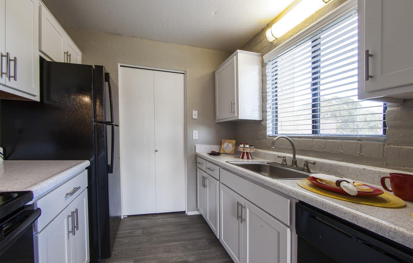 Kitchen at Mission Palms Apartments in Tucson, AZ