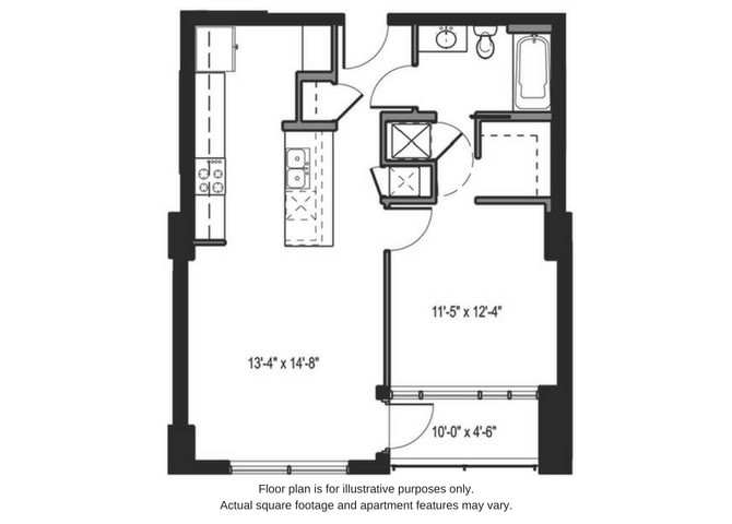 Floor Plan  Floor plan at The Martin, Seattle, WA, 98121, opens a dialog