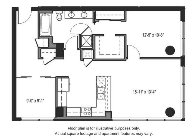 Floor Plan  Floor plan at The Martin, Washington, opens a dialog