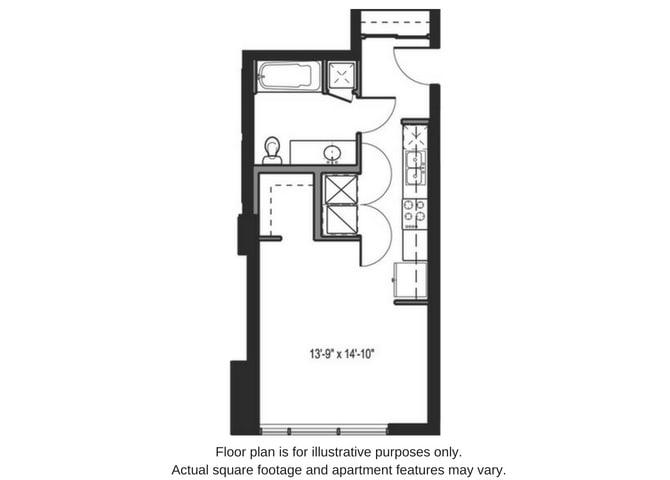Floor Plan  Floor plan at The Martin, Seattle, 98121, opens a dialog