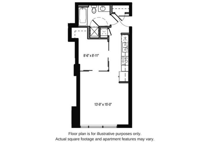Floor Plan  Floor plan at The Martin, Seattle, opens a dialog