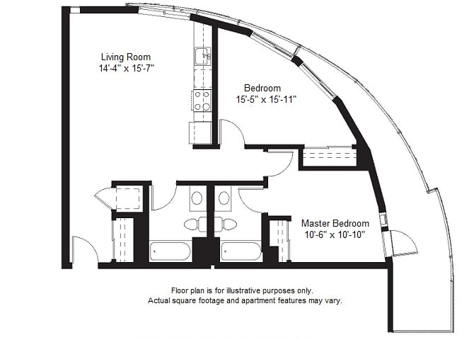 Floor Plan  B10 floor plan at Windsor at Dogpatch, California, 94107, opens a dialog