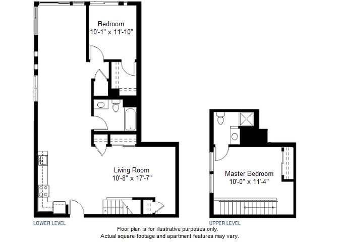 Floor Plan  B13 floor plan at Windsor at Dogpatch, San Francisco, California, opens a dialog