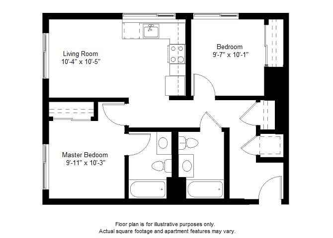 Floor Plan  B6 floor plan at Windsor at Dogpatch, San Francisco, California, opens a dialog