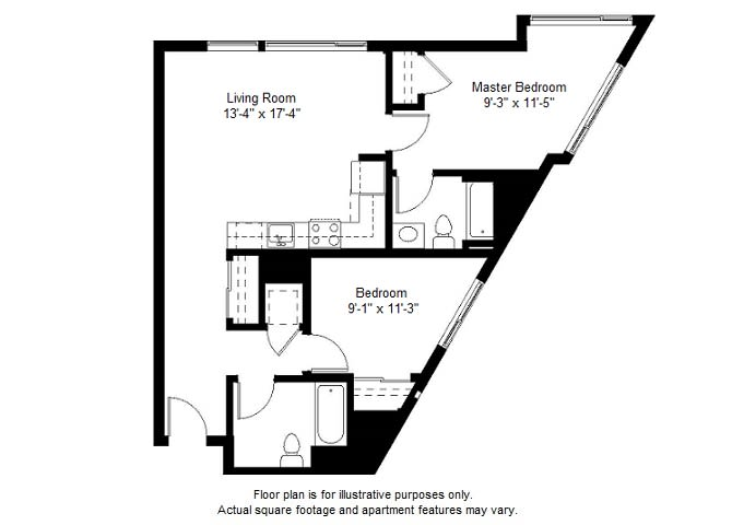 Floor Plan  B7 floor plan at Windsor at Dogpatch, California, 94107, opens a dialog