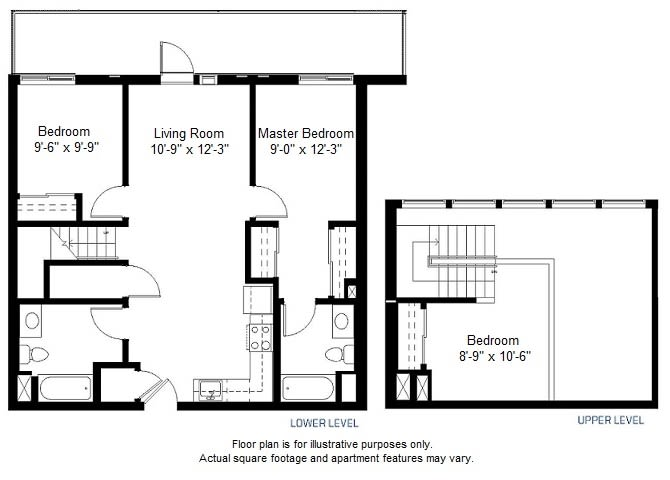 Floor Plan  C1 floor plan at Windsor at Dogpatch, San Francisco, CA, opens a dialog