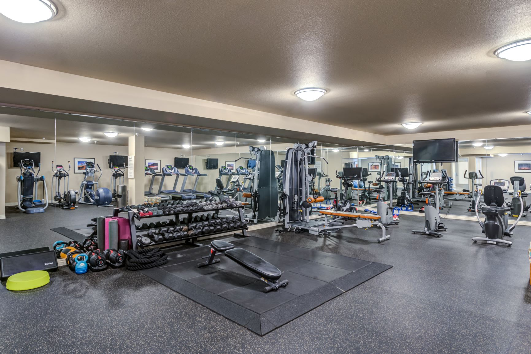 High-Tech Fitness Center at The Corydon, Seattle, Washington