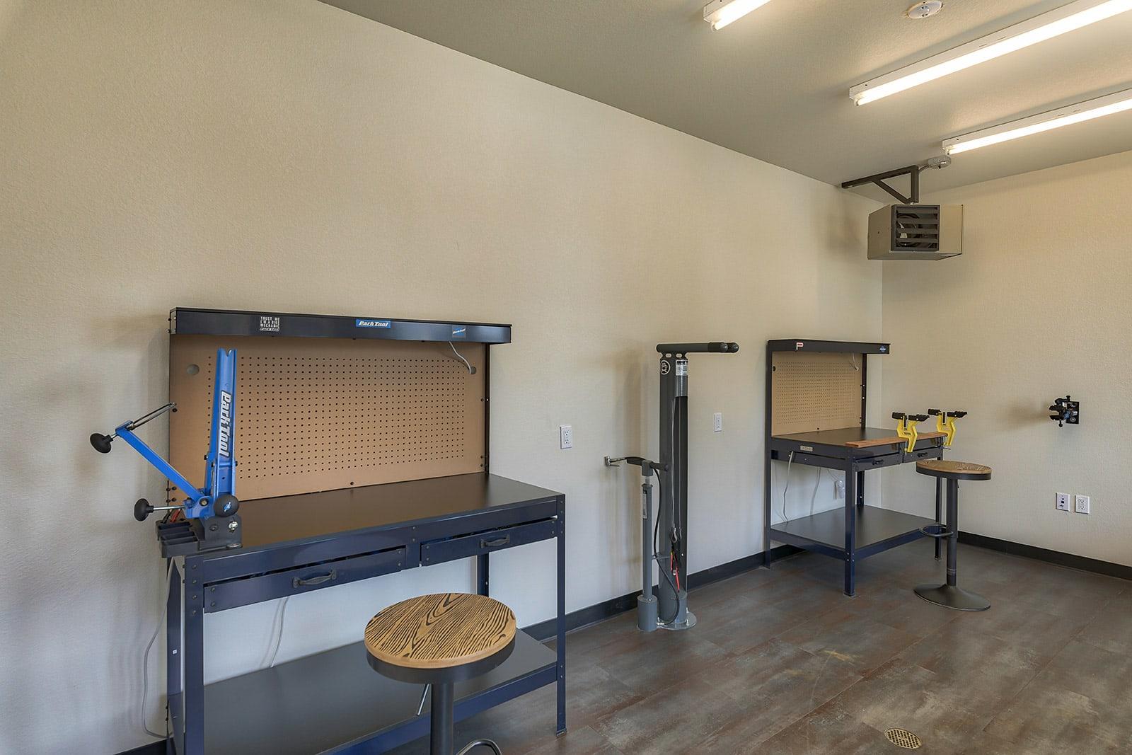 Bike repair station at Windsor at Pinehurst, CO, 80235