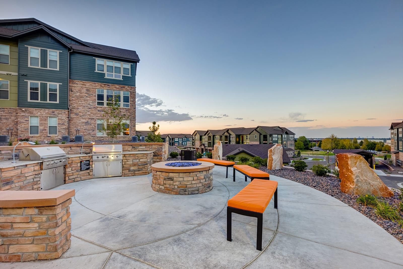 Grilling station at Windsor at Pinehurst, Lakewood, Colorado