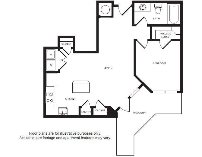 Floor Plan  A5 floor plan at Windsor Shepherd, Houston, TX, opens a dialog
