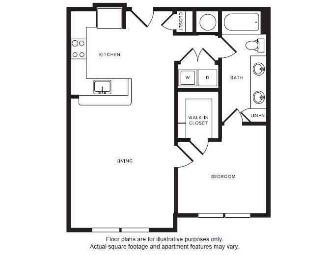 Floor Plan  A6 floor plan at Windsor Shepherd, Houston, Texas, opens a dialog