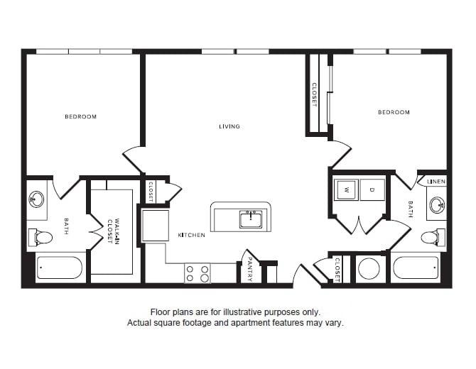 Floor Plan  B1 floor plan at Windsor Shepherd, TX, 77007, opens a dialog