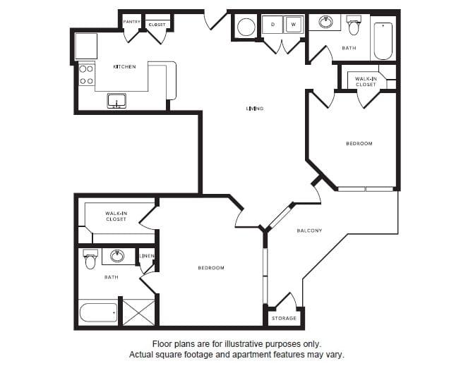 Floor Plan  B2 floor plan at Windsor Shepherd, TX, 77007, opens a dialog