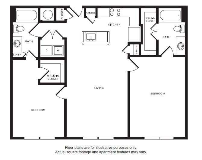 Floor Plan  B3 floor plan at Windsor Shepherd, 611 Shepherd Dr, 77007, opens a dialog