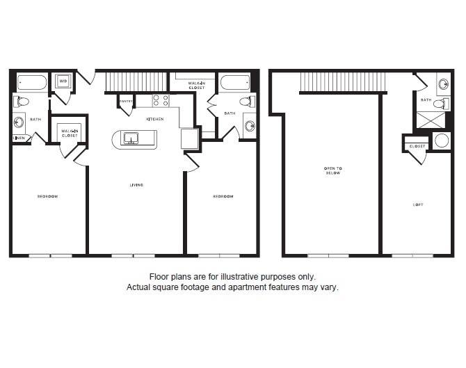 Floor Plan  B3L floor plan at Windsor Shepherd, Houston, TX, opens a dialog