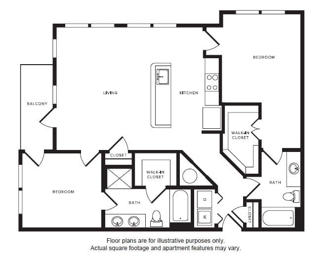 Floor Plan  B4 floor plan at Windsor Shepherd, TX, 77007, opens a dialog