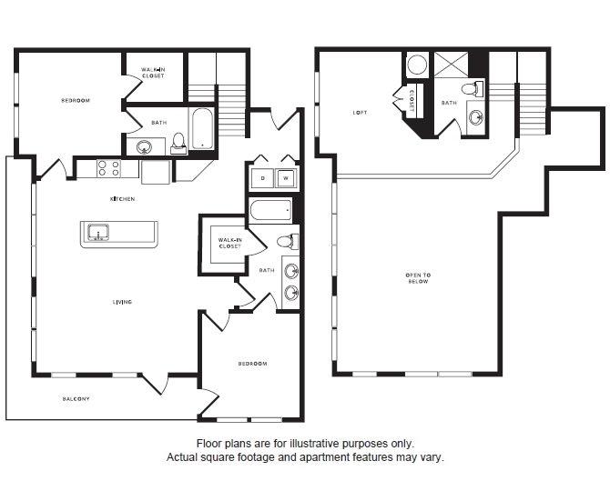 Floor Plan  B4L floor plan at Windsor Shepherd, Houston, Texas, opens a dialog