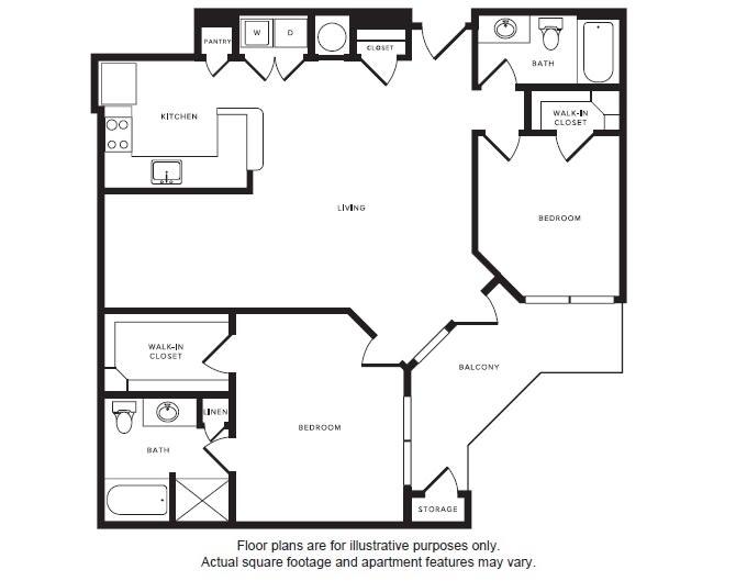 Floor Plan  B5 floor plan at Windsor Shepherd, Texas, 77007, opens a dialog