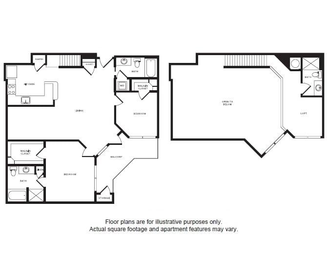 Floor Plan  B5L floor plan at Windsor Shepherd, Houston, Texas, opens a dialog