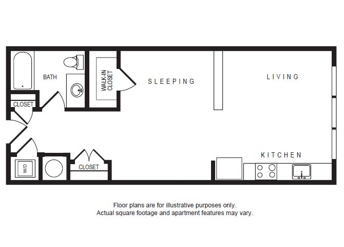 Floor Plan  S1 floor plan at Windsor Shepherd, 611 Shepherd Dr, 77007, opens a dialog