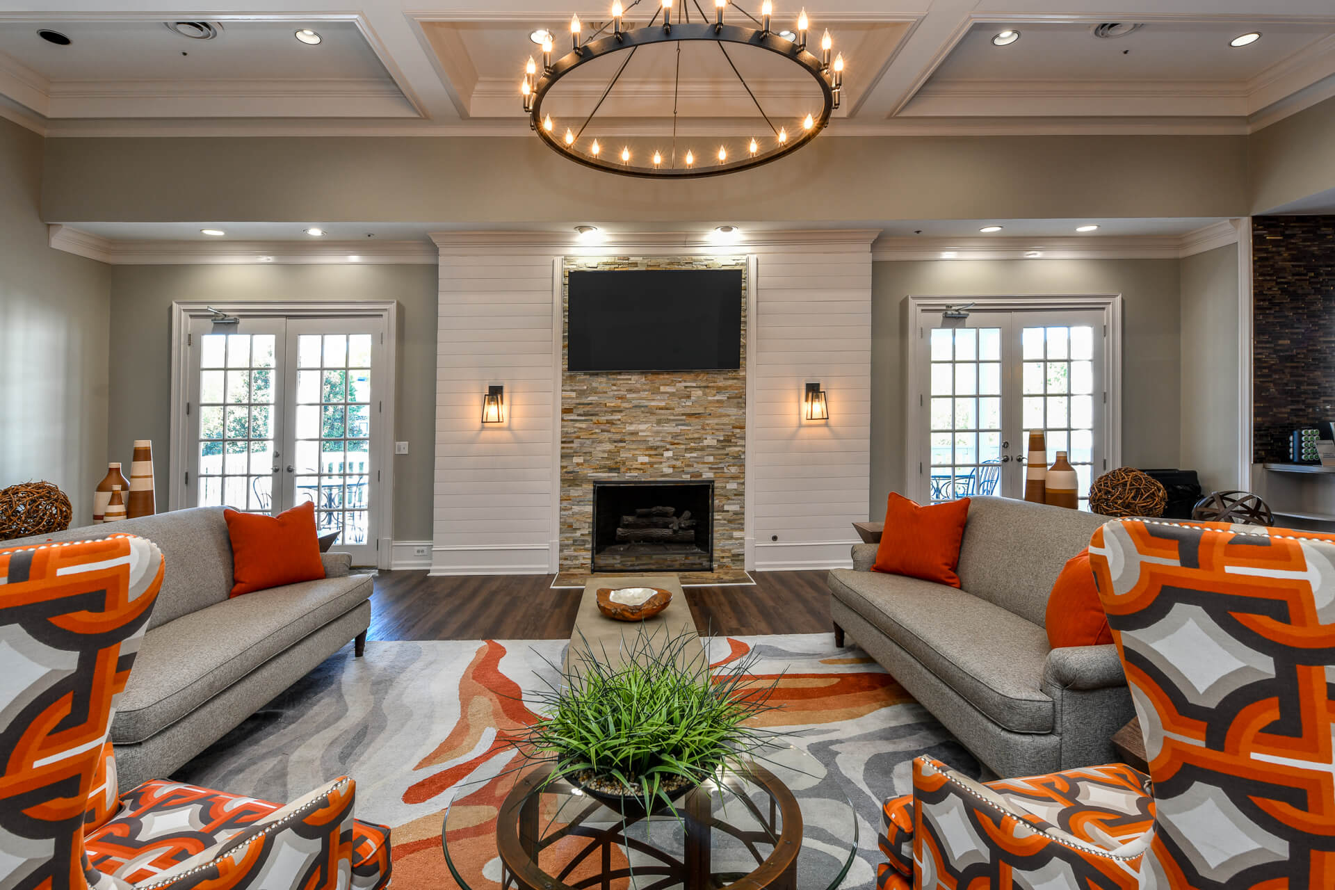 Ample Sitting Space In Clubhouse, at Crestmark Apartment Homes, Lithia Springs, 30122