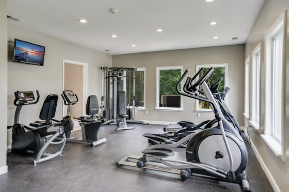 Fitness Center with Elliptical and Stationary Bikes