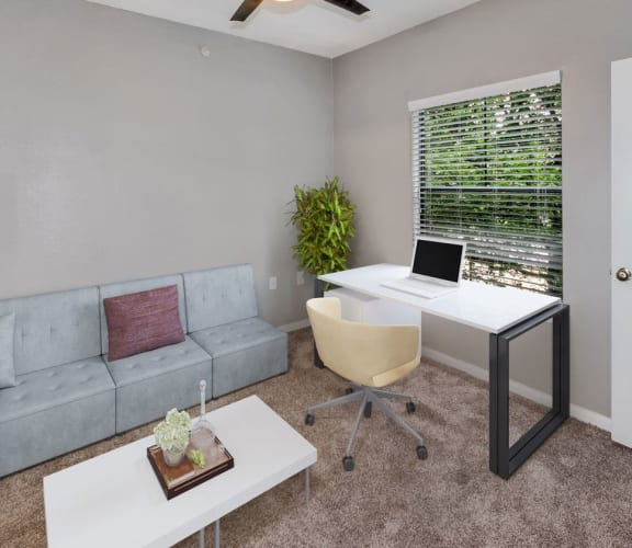 Model 2nd bedroom or home office at Hidden Creek Apartments