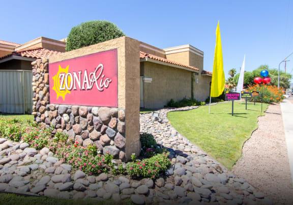 Signage at Zona Rio Apartments in Tucson AZ
