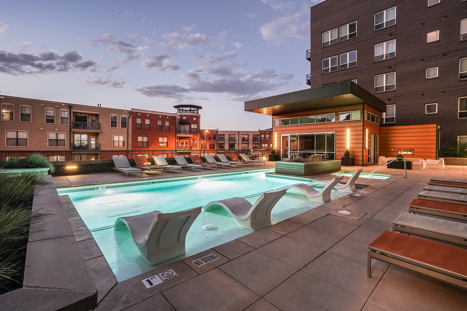 Resort-Style Swimming Pool at The Casey, Denver, Colorado
