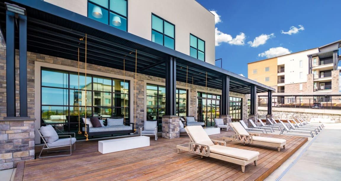 Picturesque Pool And Cabana Setting at Soleil Lofts Apartments, Herriman, Utah