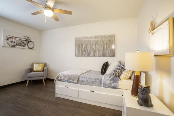 Bedroom at GC Square Apartments in Glendale AZ