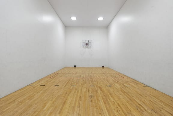 Basketball and raquetball court at Nine90 Apartments in Tucson AZ November 2020